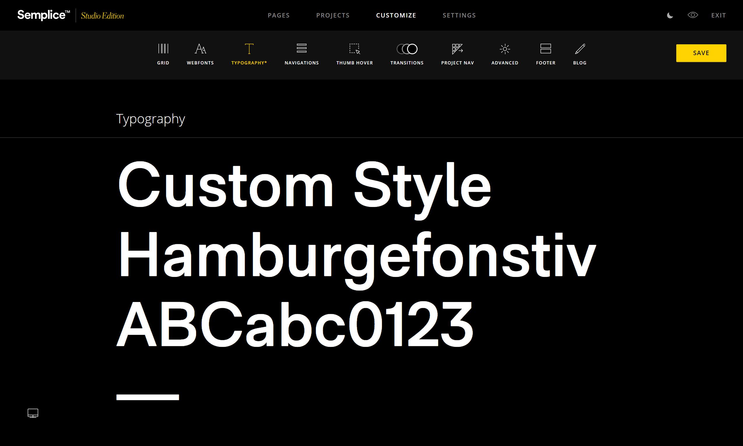 semplice_typography